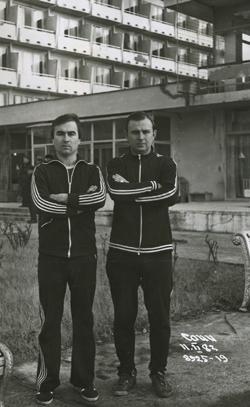 Арбітри ФФК Олександр Литвиненко, Олександр Балакін на Всесоюзних зборах
