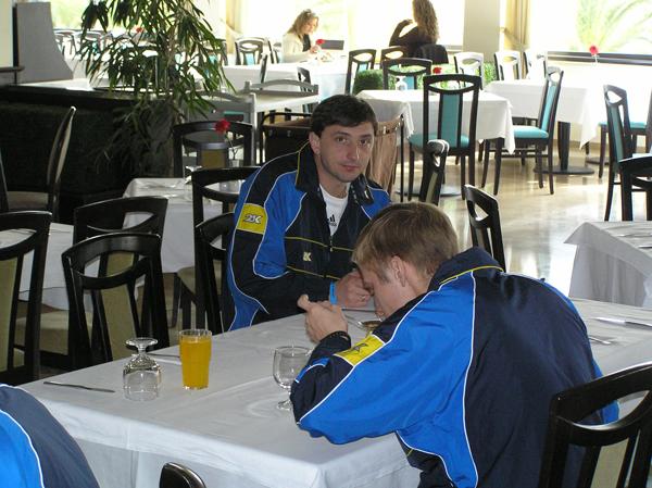 Сергій Даньковський та Олександр Якименко на зборах в Туреччині