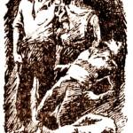 """Один з малюнків до кіноповісті О.Борщагівського """"Матч смерті"""""""